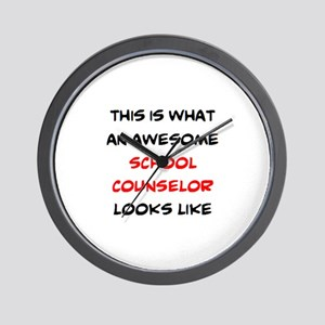 awesome school counselor Wall Clock