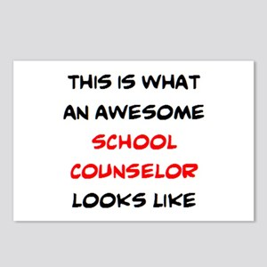 awesome school counselor Postcards (Package of 8)