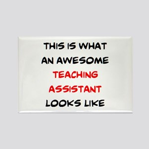 awesome teaching assistant Rectangle Magnet
