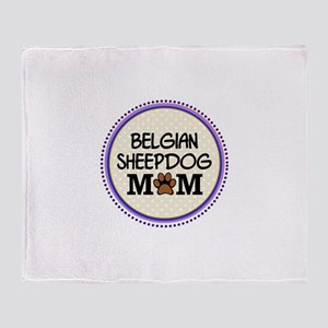 Belgian Sheepdog Mom Throw Blanket