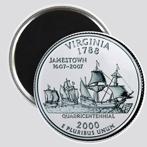 Virginia State Quarter Magnet