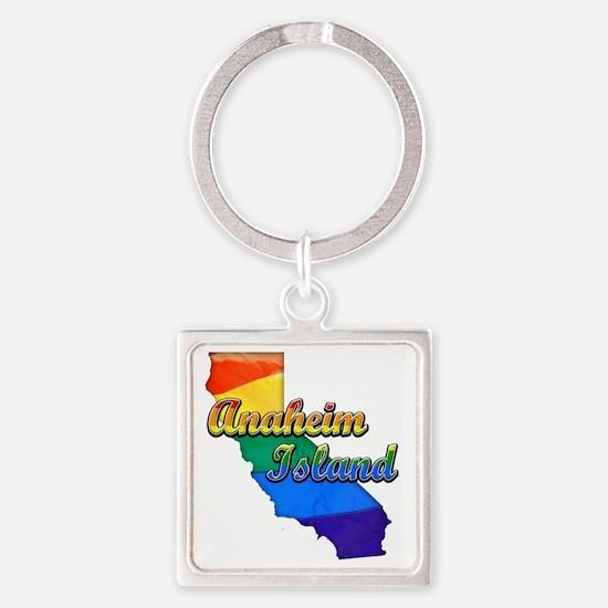 Anaheim Island Square Keychain