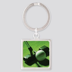 golf2 Square Keychain
