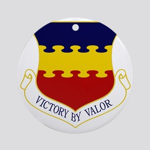 20th FW - Victory By Valor Round Ornament