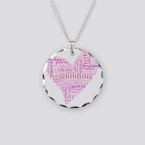 Heart Necklace Circle Charm
