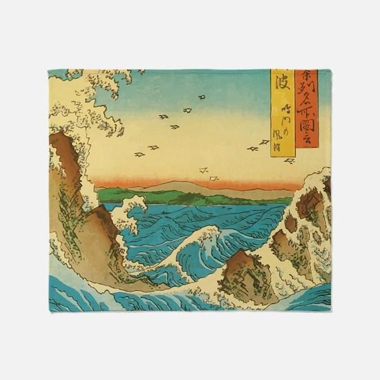 HiroshigeRapids1SC Throw Blanket