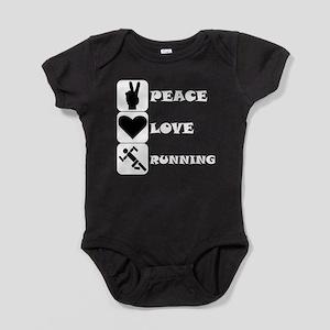 Peace Love Running Baby Bodysuit