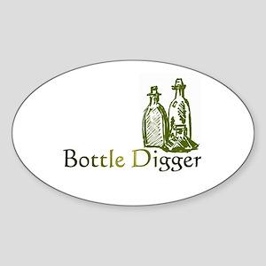 Bottle Digger Oval Sticker