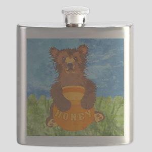 showerCurtainHoneyBear Flask