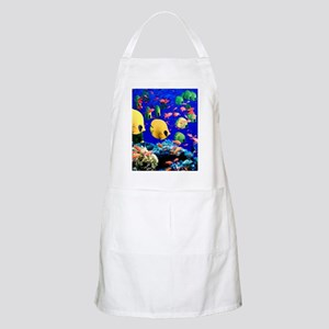 Under Sea Coral  Tropical Fish Shower Apron