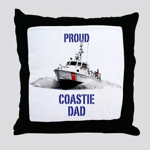 USCG Boat Dad Throw Pillow