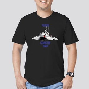USCG Boat Dad Men's Fitted T-Shirt (dark)