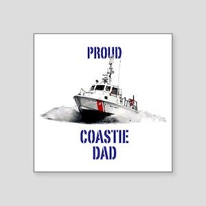 """USCG Boat Dad Square Sticker 3"""" x 3"""""""