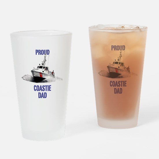 USCG Boat Dad Drinking Glass