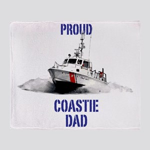 USCG Boat Dad Throw Blanket