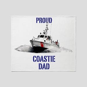 USCG Boat Dad Throw Blanket