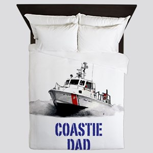USCG Boat Dad Queen Duvet