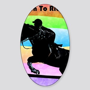 born_to_ride Sticker (Oval)