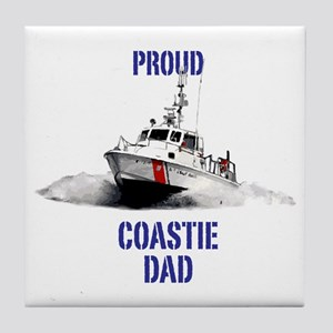 USCG Boat Dad Mug Tile Coaster