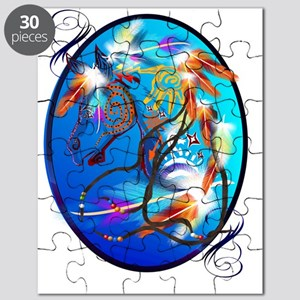 Bright Horse 2 Oval Trans Puzzle