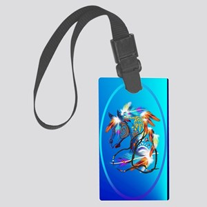 Jewel Oval Bright Horse 2 Large Luggage Tag