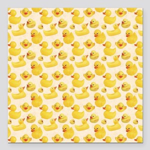 "RubberDuck1 Square Car Magnet 3"" x 3"""