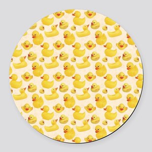RubberDuck1 Round Car Magnet