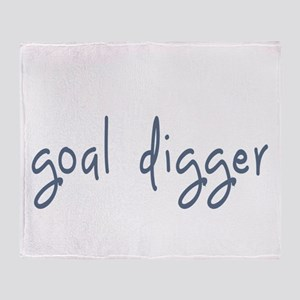 goal digger Throw Blanket