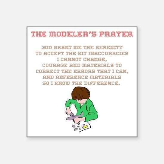 Model building hobbies gift ideas model building hobby gifts for modelers prayer 02 square sticker 3 stopboris Gallery