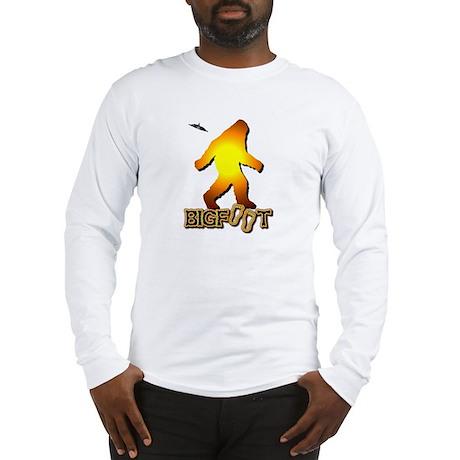 Bigfoot in Orange Long Sleeve T-Shirt