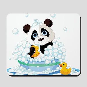 Panda in Bubbles Mousepad