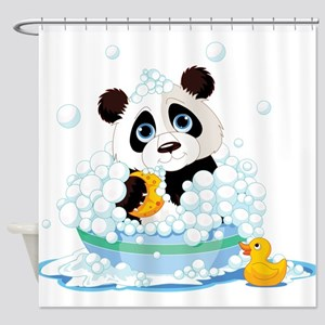 Panda in Bubbles Shower Curtain
