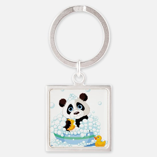 Panda in Bubbles Keychains