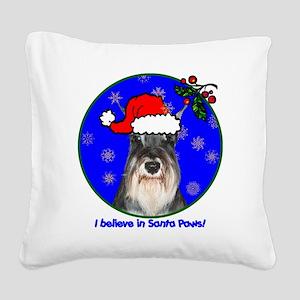 schnauzerxmas-shirt Square Canvas Pillow