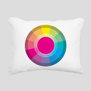Colour Wheel magneta Rectangular Canvas Pillow