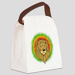 rasta lion Canvas Lunch Bag