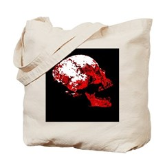 blood skull Tote Bag