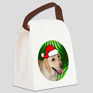 labyellowxmas-round Canvas Lunch Bag