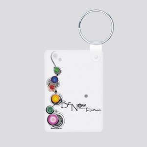 benow for the evolved whit Aluminum Photo Keychain