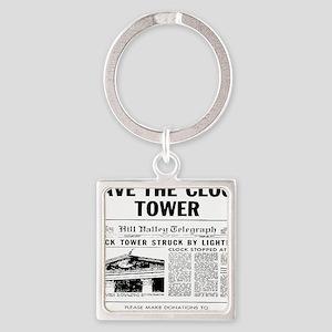 savetheclocktower Square Keychain