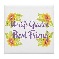 World's Best Friend Tile Coaster
