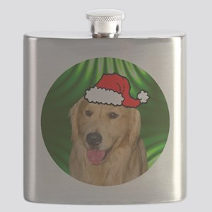 goldenretrieverxmas-round Flask
