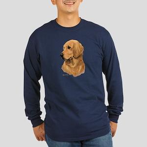 Golden Retriever Long Sleeve Dark T-Shirt