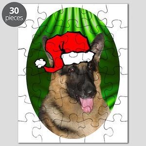 germanshepherdxmas-oval Puzzle