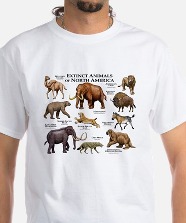 Extinct Animals of North America White T-Shirt