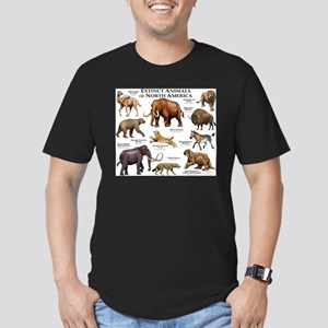 Extinct Animals of North America Men's Fitted T-Sh