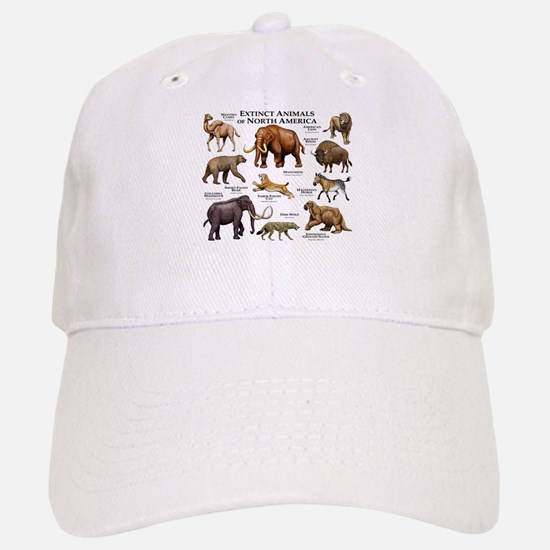 Extinct Animals of North America Baseball Baseball Cap