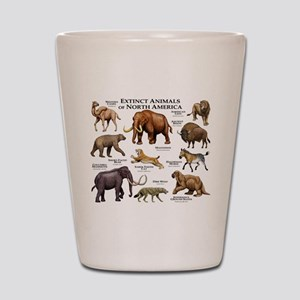 Extinct Animals of North America Shot Glass