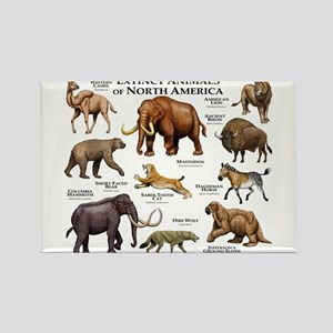 Extinct Animals of North America Rectangle Magnet