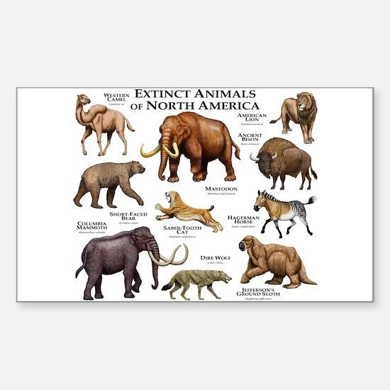 Extinct Animals of North America Decal